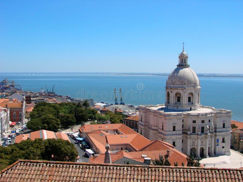 Download Lisbon view stock photo. Image of aerial, lisboa, blue - 4383176