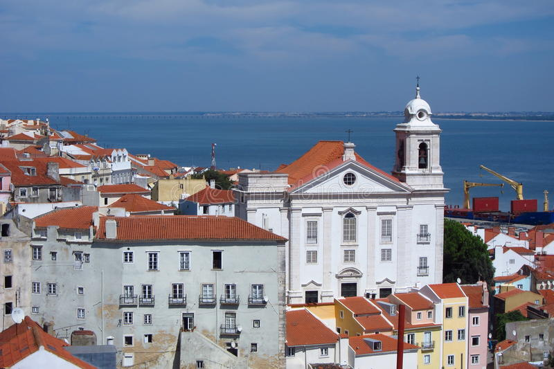 Download Lisbon view (miraduro) stock image. Image of urban, roof - 24024683