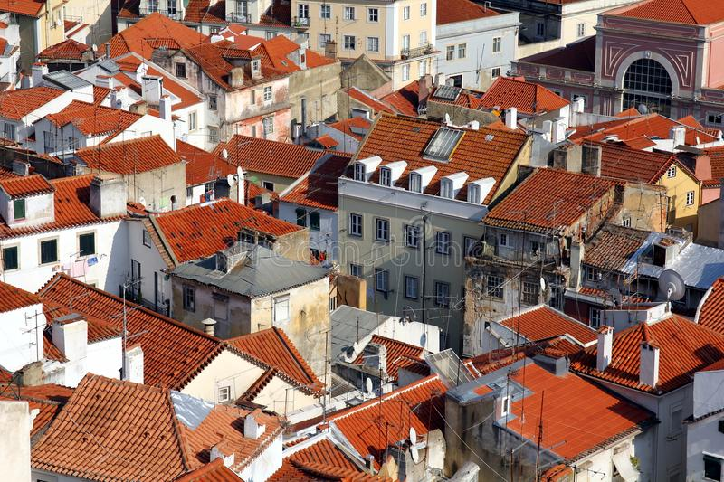 Download Lisbon - View over Alfama stock photo. Image of facade - 24481828
