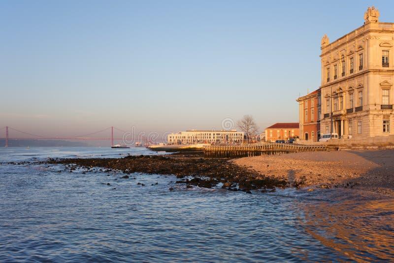 Lisbon w ranku obraz royalty free