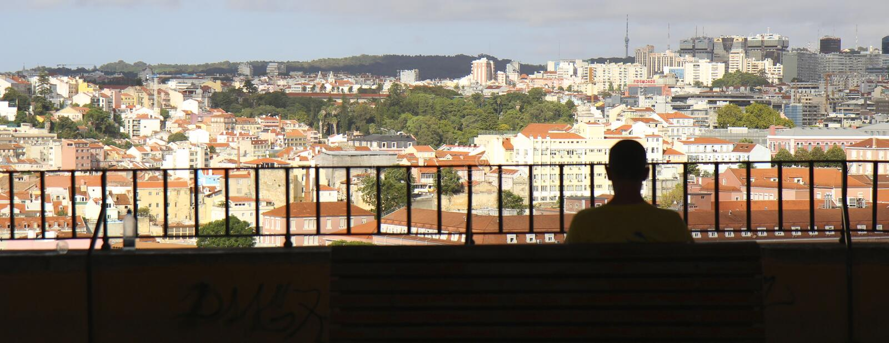 Lisbon widok obrazy stock