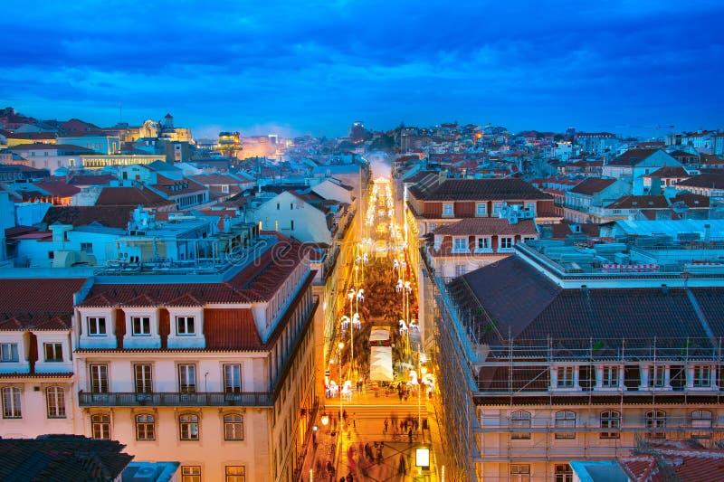 Lisbona Città Vecchia a penombra immagini stock libere da diritti