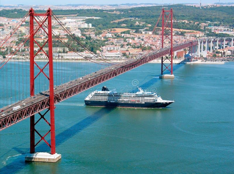 Lisbona Ponte 25 de Abril immagine stock