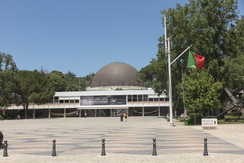 Lisbona, Portogallo, il 16 giugno 2018: Planetario di Calouste Gulbenkian a Belem a Lisbona, Portogallo immagini stock