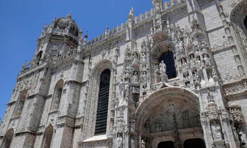 Lisbona, Portogallo - monastero di Jeronimos di rinascita fotografia stock libera da diritti