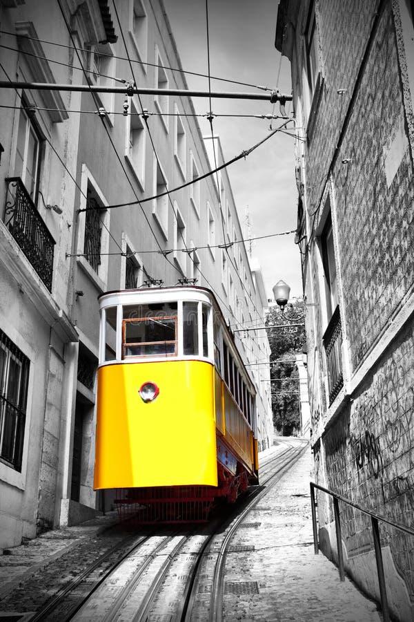 Lisbonne funiculaire photographie stock libre de droits