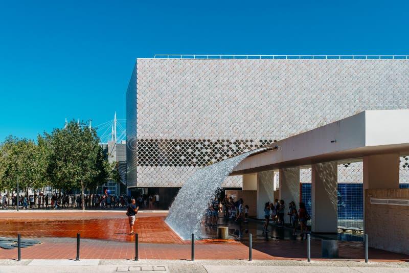 Lisbonne Oceanarium est située dans le Parque DAS Nacoes, qui était les au sol d'exposition pour l'exposition 1998 photo stock