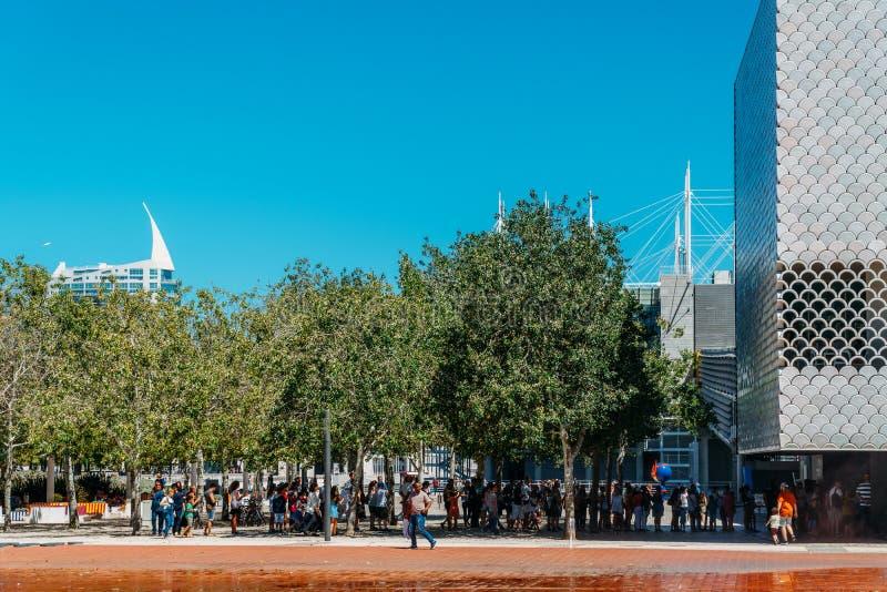 Lisbonne Oceanarium est située dans le Parque DAS Nacoes, qui était les au sol d'exposition pour l'exposition 1998 photos libres de droits