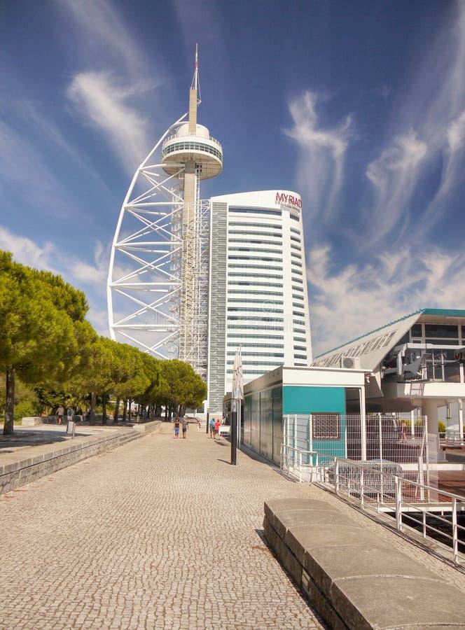 Lisbonne, parc des nations photographie stock libre de droits