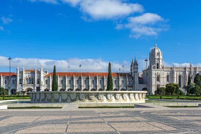 Lisbonne, Portugal Le monastère ou le Jeronimos de Hieronymites est situé dans la paroisse de Belem images stock