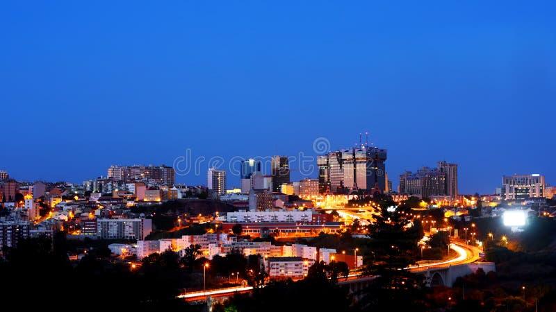 Lisbons Cityscape arkivfoton