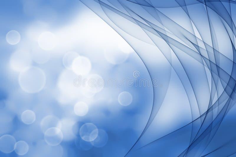 Lisci le onde dai toni del blu royalty illustrazione gratis