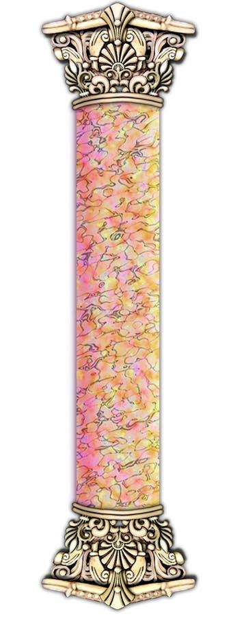 Lisci, marmorizzi & lapidi la colonna illustrazione vettoriale