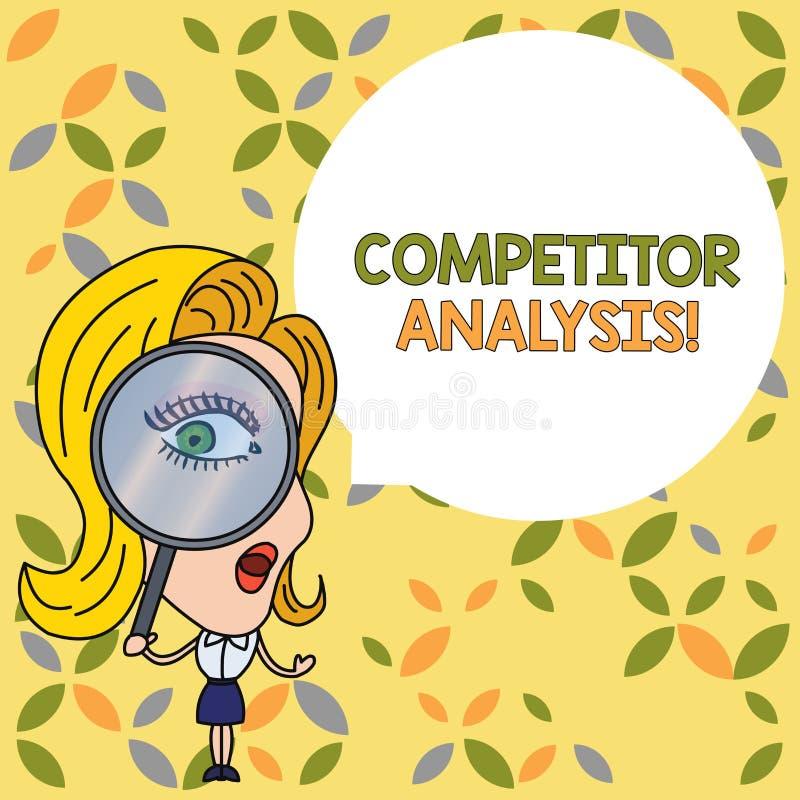 An?lise do concorrente do texto da escrita O significado do conceito determina a fraqueza da força da mulher do mercado competiti ilustração royalty free