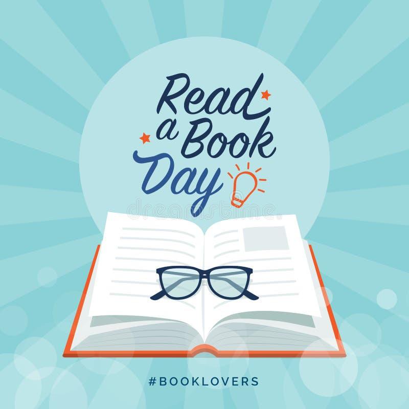 Lisez un jour de livre illustration libre de droits
