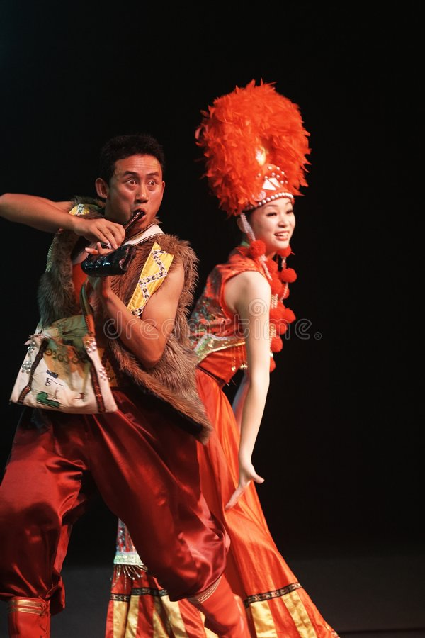 Lishui sands performance royalty free stock images
