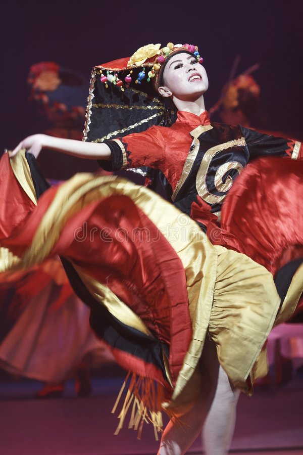 Lishui sands performance royalty free stock photography