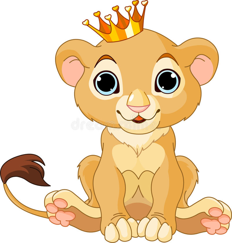 lisiątka królewiątka lew ilustracja wektor
