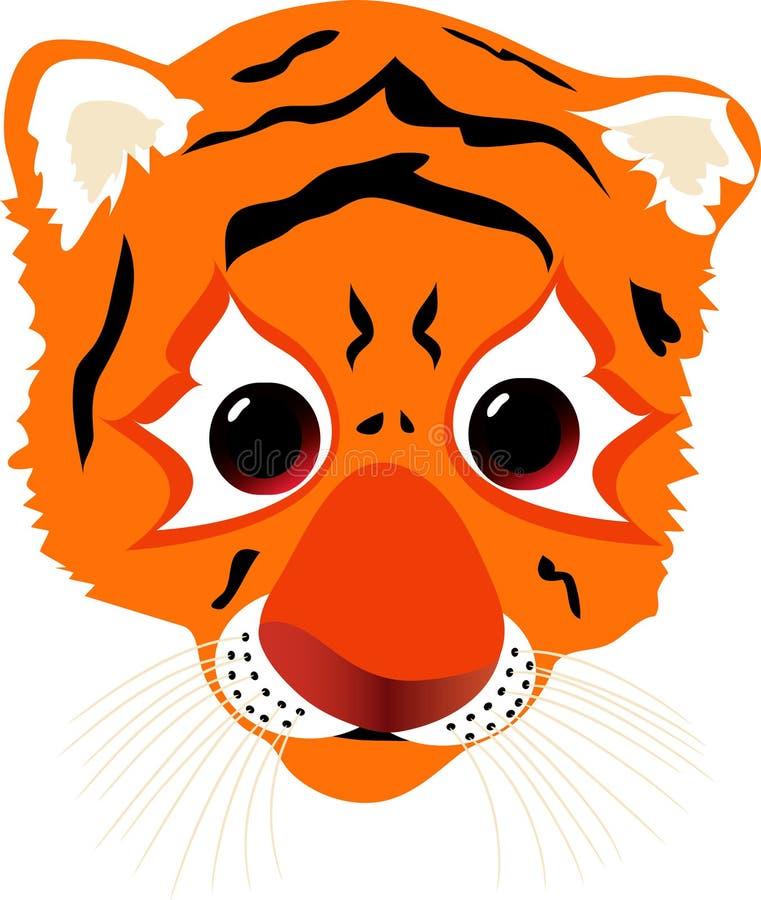 lisiątko tygrys ilustracja wektor