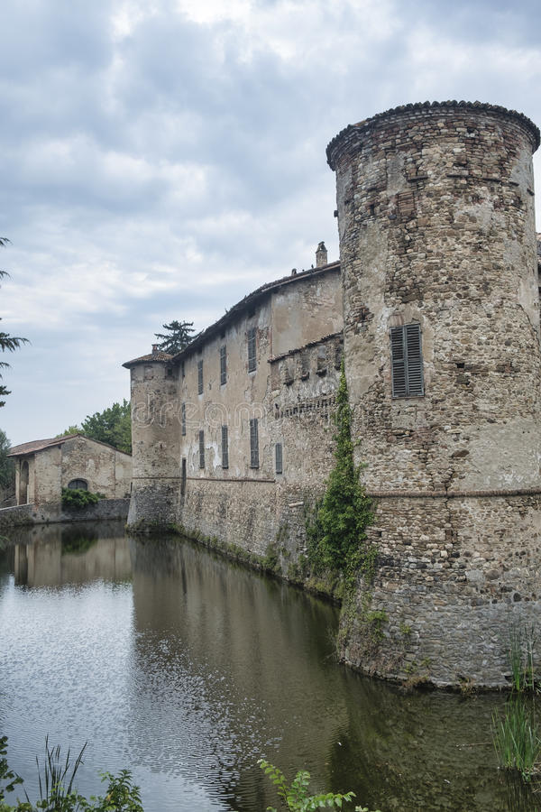 Lisignano Piacenza, the castle stock photos