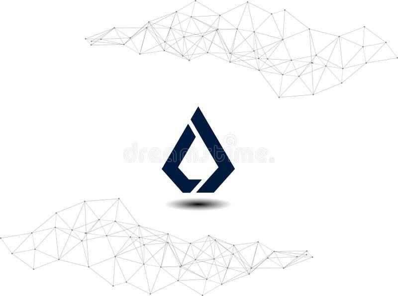 Lisk LSK Cryptocurrency网络例证 向量例证