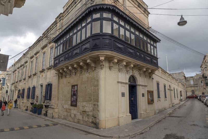 Lisle Adam musikbandklubba som bygger Palazzo Xara i Rabat Malta arkivbild