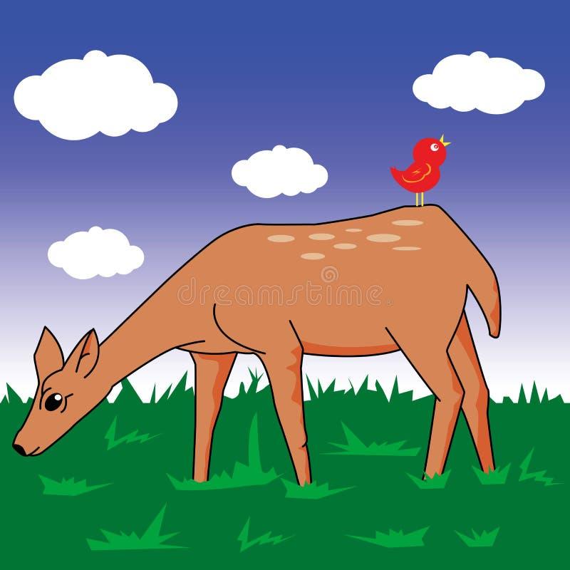 Lisma i ett fält stock illustrationer