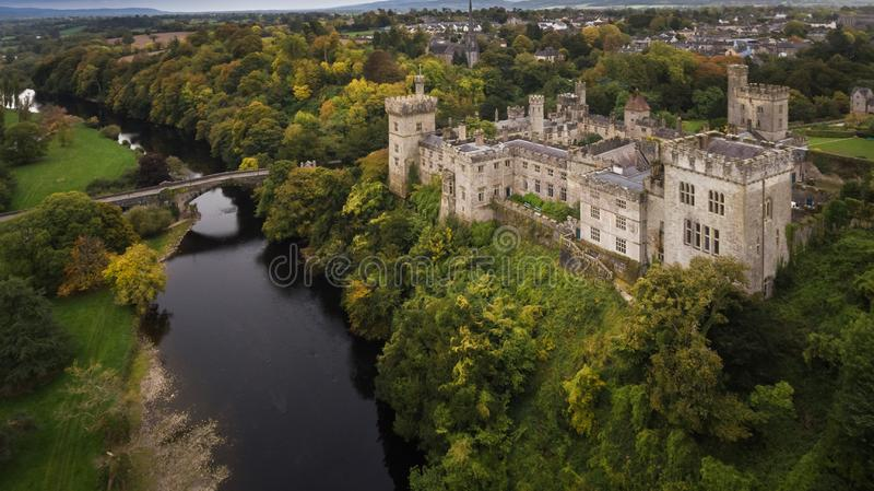 Lismore castle and gardens. county Waterford. Ireland. Aerial view. Lismore castle and gardens. county Waterford. Ireland stock photography