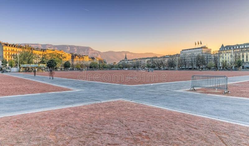 Liso de Plainpalais, Genebra, Suíça, HDR foto de stock