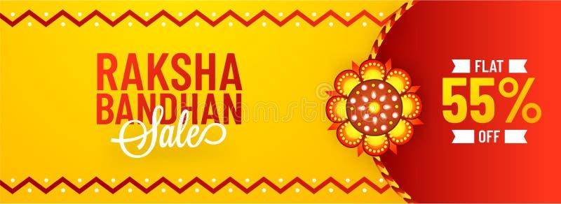55% liso fora da oferta para a venda de Raksha Bandhan, a bandeira ou o DES do encabeçamento ilustração royalty free