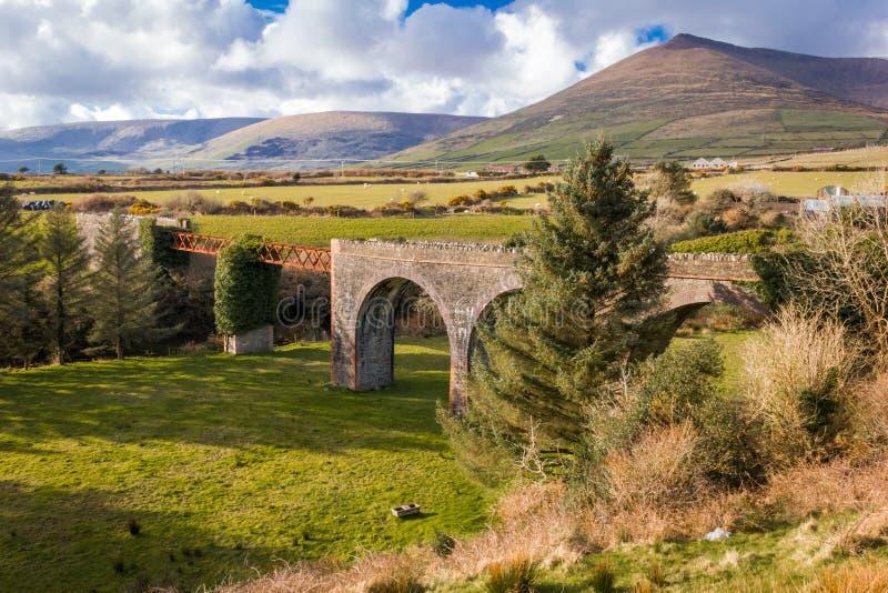 Lispole viaduct. Dingle Peninsula. Kerry. Ireland. The old Lispole viaduct. Dingle Peninsula. county Kerry. Ireland stock photos