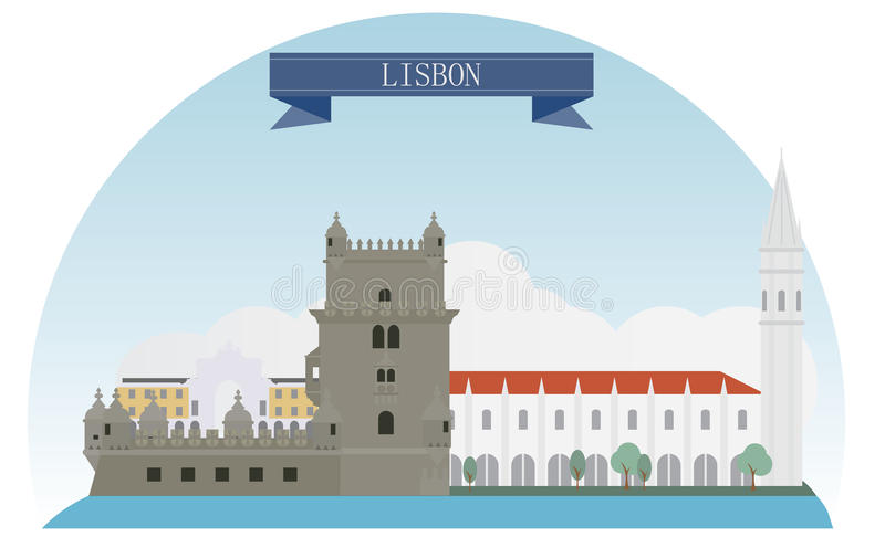 Lissabon royalty-vrije illustratie