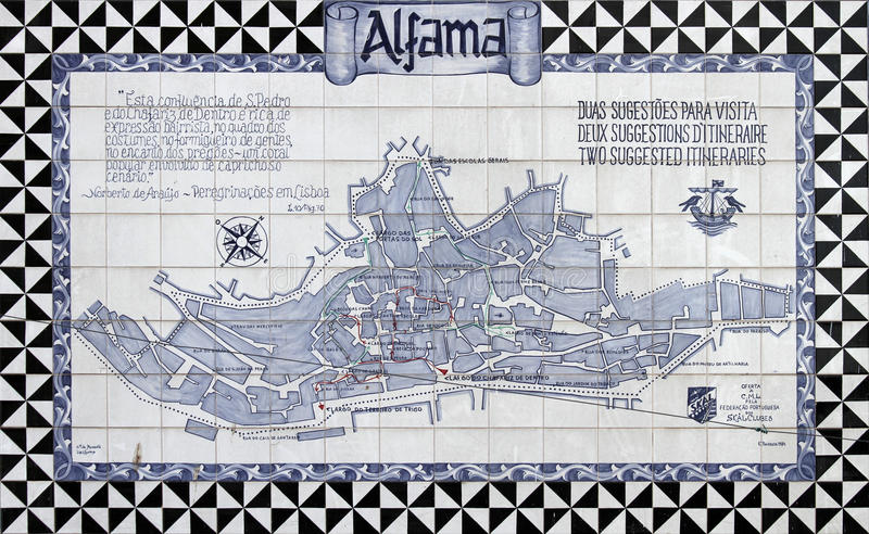 Lissabon azulejos lizenzfreies stockbild