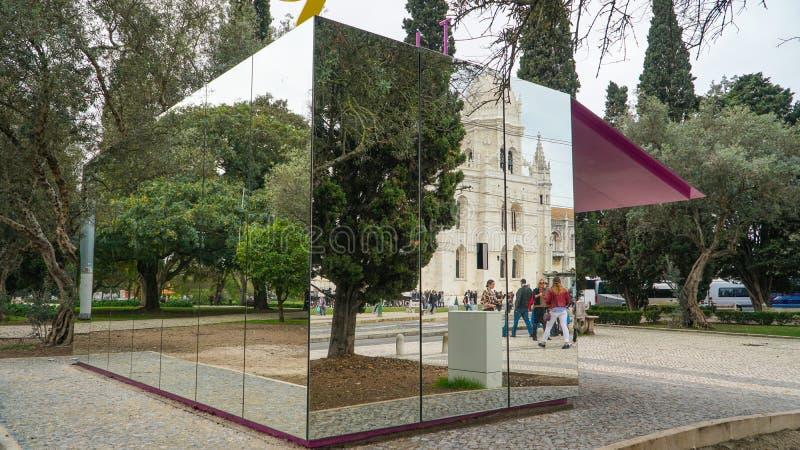LISSABON circa 2017: Jeronimos kloster eller Hieronymites kloster, Lissabon, Portugal Lissabon är kontinental Europa ` s westernm arkivbild