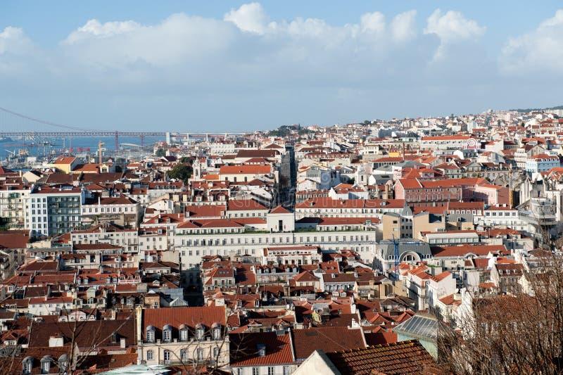 Lissabon Cityview portugal arkivfoton