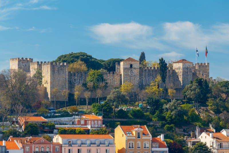 lissabon Das Schloss von St George stockbild