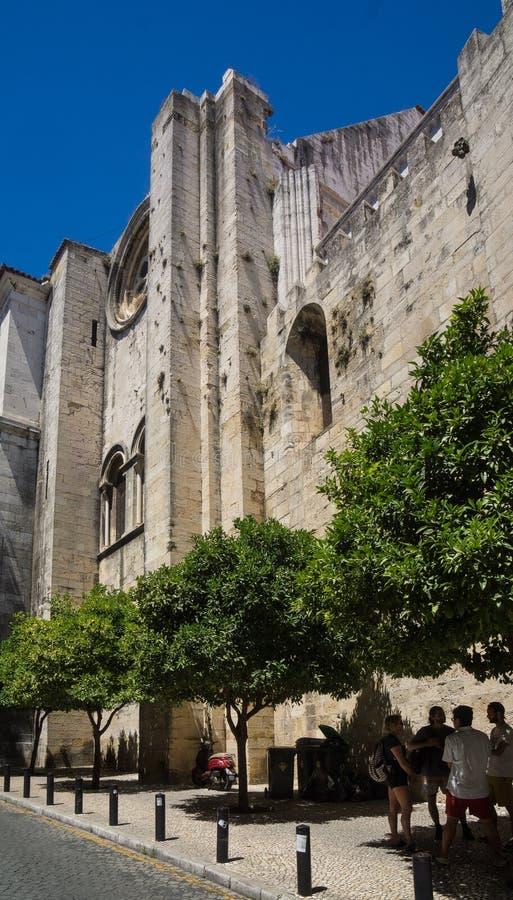 Lissabon domkyrkafasad royaltyfri bild
