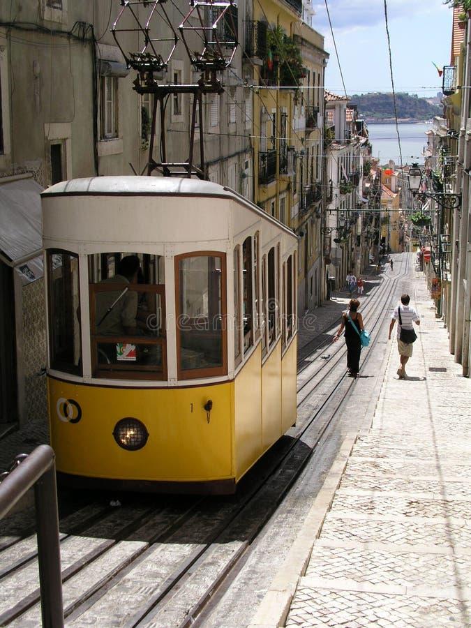 Lissabon-Förderwagen lizenzfreie stockbilder