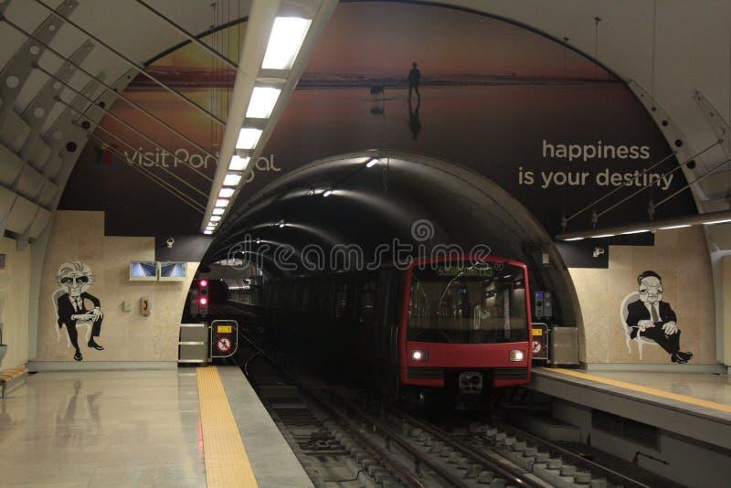 Lissabon gångtunnel royaltyfri foto