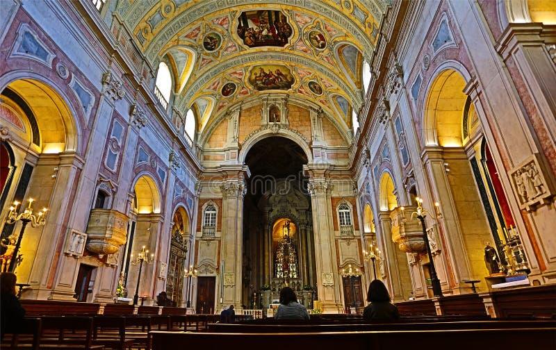 "Lissabon HDR †""St Nicholas Church stock afbeelding"