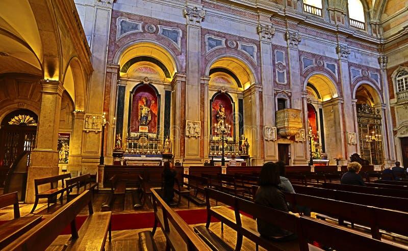 "Lissabon HDR †""St Nicholas Church royalty-vrije stock afbeeldingen"