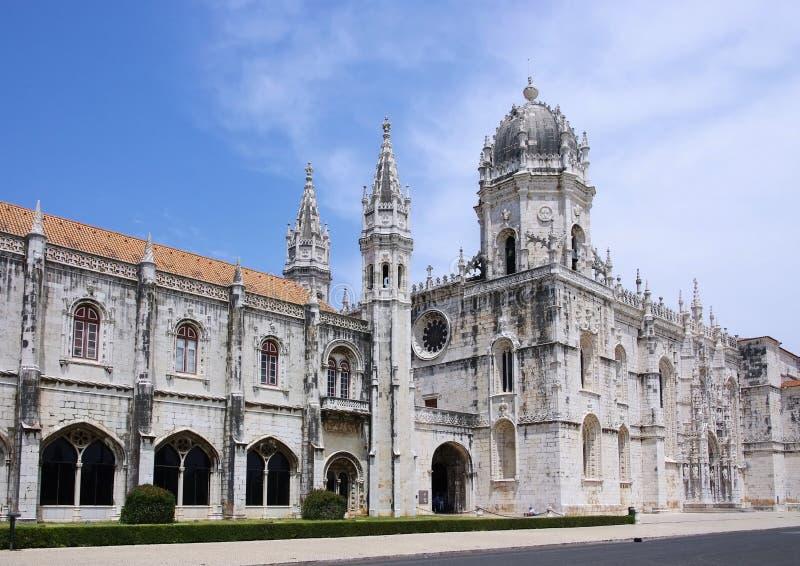 Het Klooster van Lissabon Jeronimos royalty-vrije stock foto
