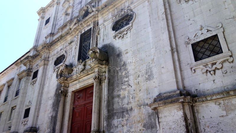 Lissabon historisk byggnad royaltyfri bild