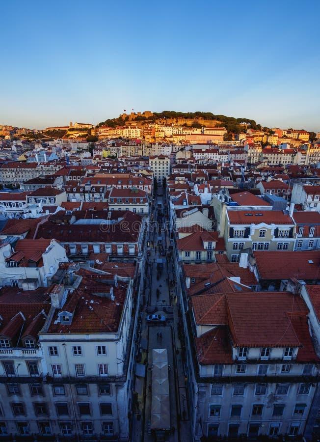 Lissabon horisont royaltyfri foto
