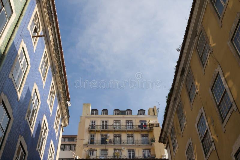 Lissabon im Stadtzentrum gelegen lizenzfreie stockfotos
