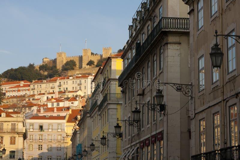 Lissabon im Stadtzentrum gelegen stockfotografie
