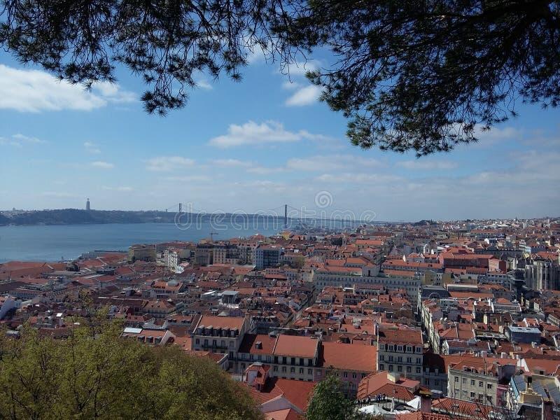 Lissabon landskap arkivfoton