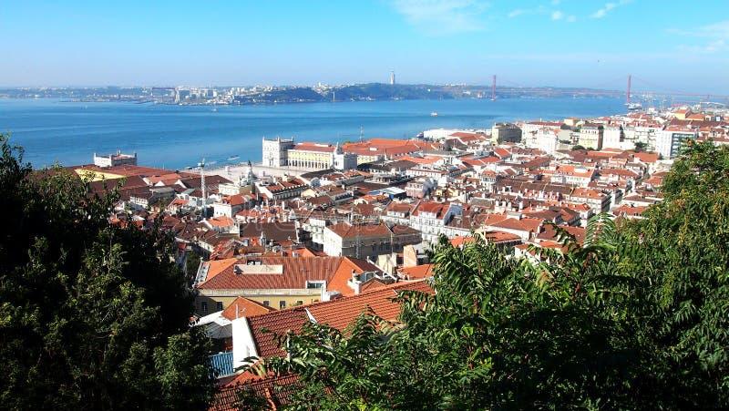 Lissabon mitt, Portugal arkivbilder