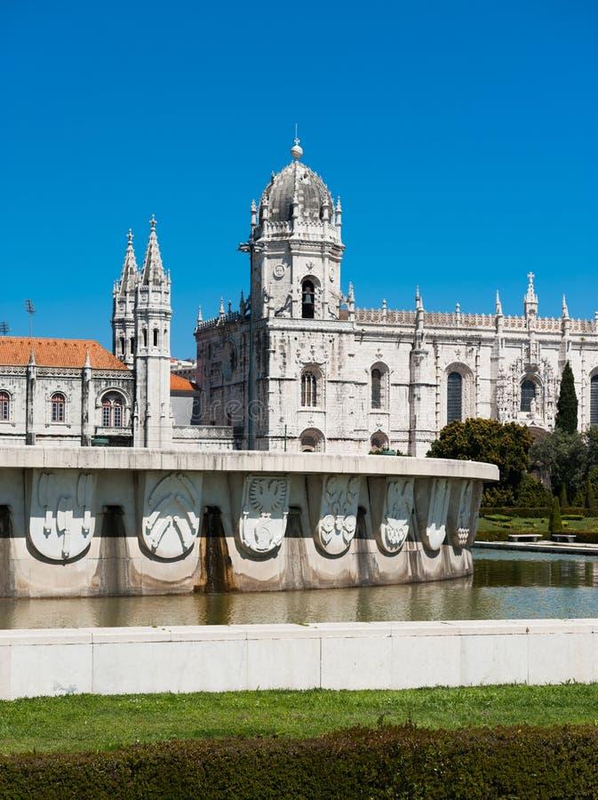Lissabon Mosteiro DOS Jeronimos fotografering för bildbyråer