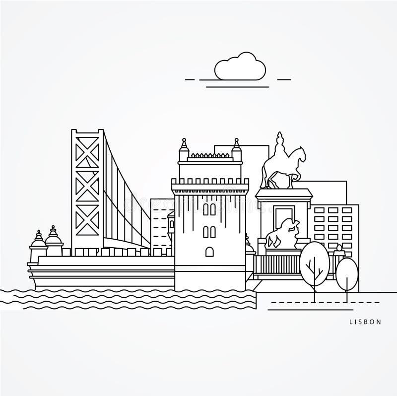 Lissabon Portugal vector illustratie